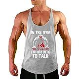 Herren Sport T-Shirt Sweatshirt Tank Top Bodybuilding Stringer Kapuzenshirt Workout Fitness Weste aus Baumwolle
