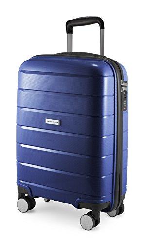 HAUPTSTADTKOFFER - Prnzlbrg - Handgepäck Hartschalenkoffer Trolley Rollkoffer Reisekoffer, TSA, 55 cm, 36 Liter, Dunkelblau
