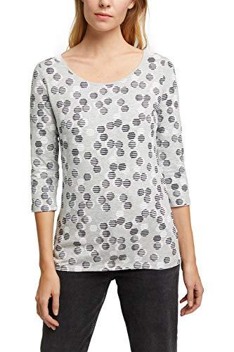 Esprit 080EE1K373 Camiseta, 044/gris Claro 5, L para Mujer