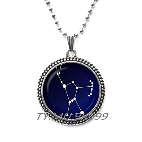 Orion Sternbild Glas-Anhänger. Halskette mit Sternenhimmel, Astronomie, Weltraum-Schmuck, Glas-Cabochon-Anhänger, Y202