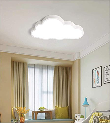 LLLKKK Lámpara de techo LED ultrafina, 5 cm, moderna, creativa, con dibujo de nube, para niños, dormitorio, jardín de niños, fácil de usar