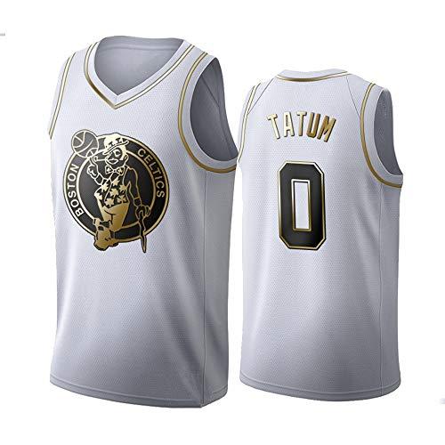 XXMM Camiseta Deportiva, NBA Boston Celtics # 0 Jayson Tatum Camiseta De Baloncesto, Chaleco De Uniformes De Baloncesto para Adultos, Ropa Deportiva De Entrenamiento Sin Mangas,XXL(185~190cm)