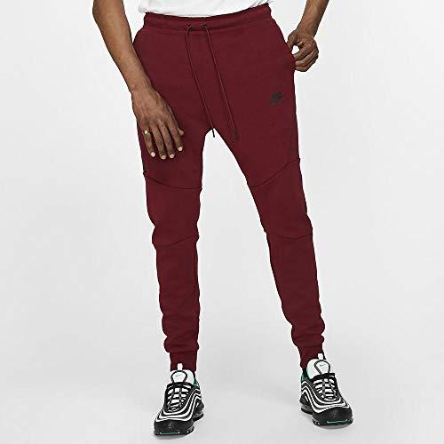 Nike Herren Sportswear Tech Fleece Jogger Hose XS rot/schwarz