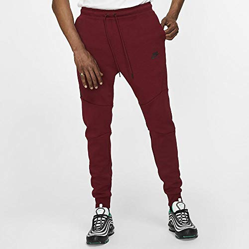 Nike Men's Sportswear Tech Fleece Jogger, Pantaloni Uomo, Rosso/Nero (Team Red/Black), XL/T
