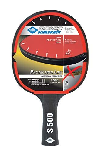 Donic-Schildkröt Tischtennisschläger Protection Line S500, mit Schutz gegen Belag-Abzupfen, 1,5 mm Schwamm, Elite - ITTF Belag, 713055