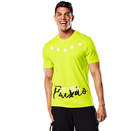 Zumba Fitness Paixao tee Camiseta, Hombre, Verde, XL