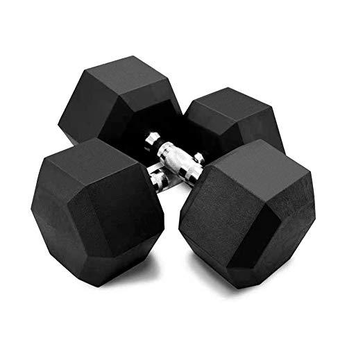 YUHEN Pesas, Hex Goma Entrenamiento de los Pesos Pesas para la Fuerza, Entrenamiento, pérdida de Peso, Equipo de Gimnasio, y se ocupa de Inicio,1 Pair,55kg