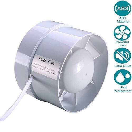 Aspiratore 150mm/6'' Estrazione Ventilazione Standard per Bagno Cucina Valvola di Non Ritorno Aspirazione Perimetrale, Protezione IPX4 Contro Spruzzi d`Acqua 210m³ / h 18W