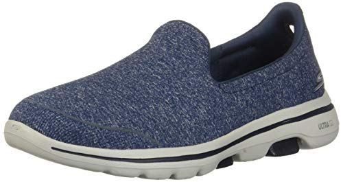 Skechers Women's GO Walk 5-15932 Shoe, Navy/Gray, 10.5 M US