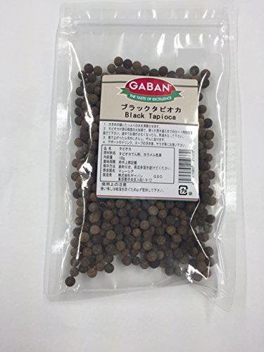 ギャバン ブラックタピオカ パール 100g [0370]