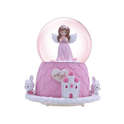 pink angel snowglobe
