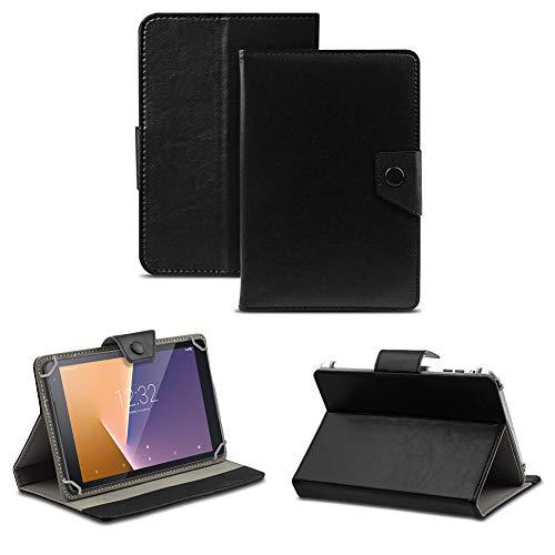 NAUC Tablet Tasche kompatibel für Vodafone Tab Prime 6/7 Schutzhülle Hülle Hülle Schutz Cover, Farben:Schwarz
