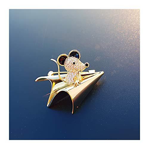 caihuashopping Mujer Broches Broche de zircón Artificial Exquisito BROCH Pins, Creativa Simple Suit Sweet BROCH Pin para Las Mujeres Regalos para EL DÍA DE VALENTÍN JoyeríA De Moda