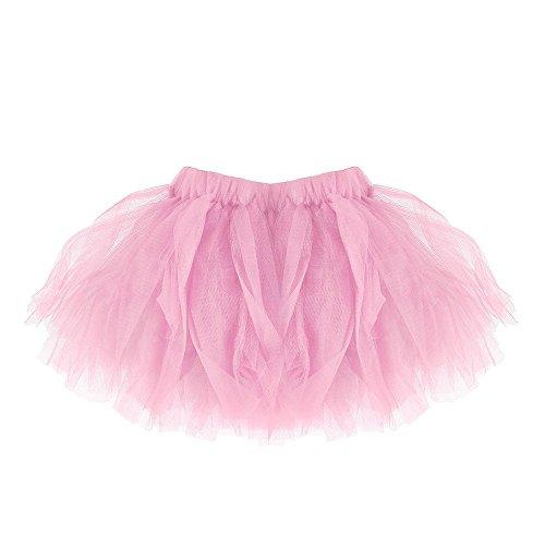 DAY8 Tutu Jupe Bébé Fille Courte Ballet Jupe Tulle Plissée Crayon Princesse Bébé Vetement Bebe Fille Naissance 0-2 Ans Pas Cher a la Mode Chic Ete 2019 Cadeau Bébé Fille (0-2 Ans, Rose)