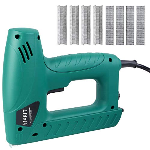 FIXKIT Electric Staple/Brad Nail Gun Hand Tacker Flooring Framing Nailers Kit, Suit For Upholstery, Fixing Material, Decoration, Carpentry, Furniture