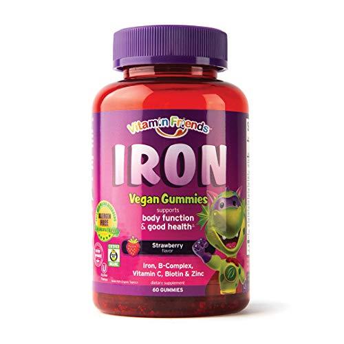 Vitamin Friends Iron Multivitamin for Kids - Organic & Vegan...