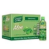Green Globe - Bebida de jugo de aloe vera (12 unidades, 500 ml, jugo original de aloe vera para cabello y piel, 500 ml (bebida original de aloe vera)