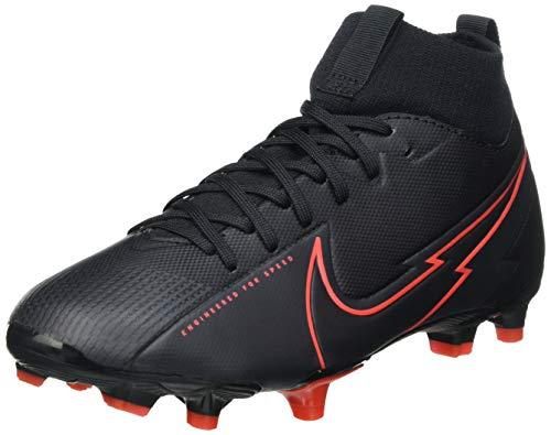 Nike JR Superfly 7 Academy FG/MG, Scarpe da Calcio, Black/Black-Dk Smoke Grey-Chile Red, 35 EU