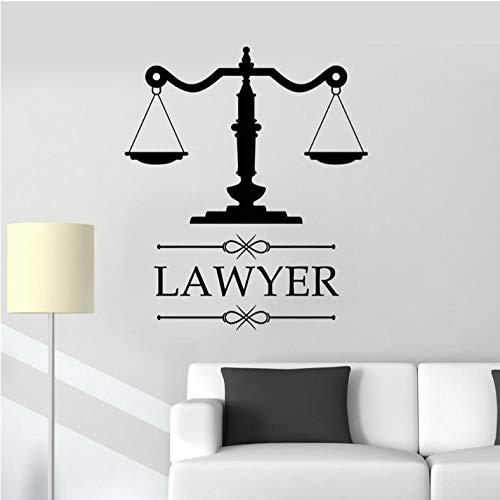 Xxscz Anwaltskanzlei Zeichen Anwalt Anwaltskanzlei Vinyl Aufkleber Personalisierte Aufkleber Firmenname Skala Der Gerechtigkeit Fenster Dekoration H424