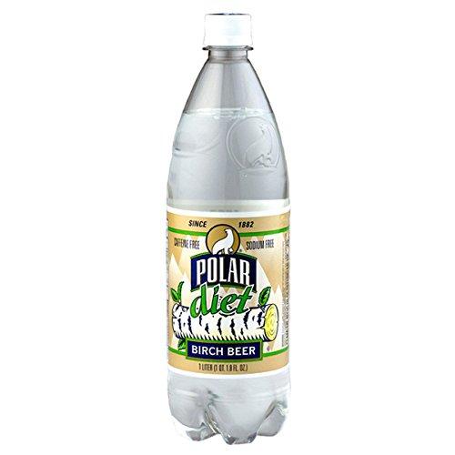 Polar Diet Birch Beer Soda 1 L Plastic Bottles - Pack of 12