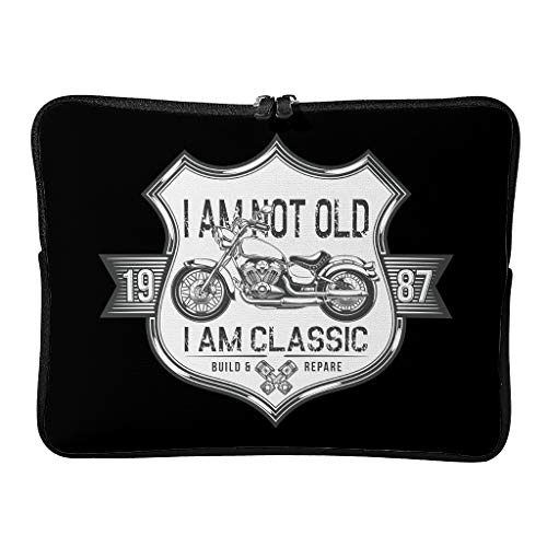 Regular I Am Not Old I Am Classic Laptop Bags Water Resistant Fashion Tablet Sleeve Suitable for Work White 17 Zoll
