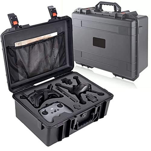 QIUQIONG Waterproof Portable Hard Carrying Case for DJI FPV Combo Drone Storage Travel for FPV Drone, Goggles V2, Remote Controller, Battery & Accessories