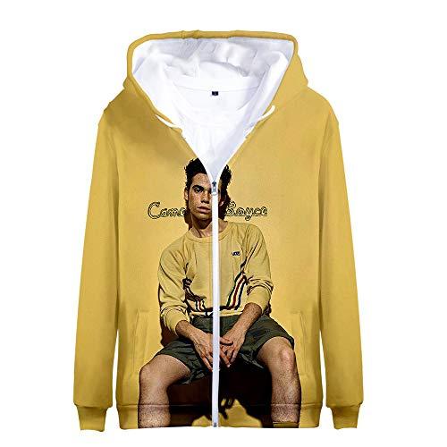 Yghgdfg Cameron Boyce Pullover Casual Hipster-Mantel mit Reißverschluss lose Kapuzenjacke Printed Oberbekleidung Unisex (Color : A08, Size : Height-185cm(Tag XXL))