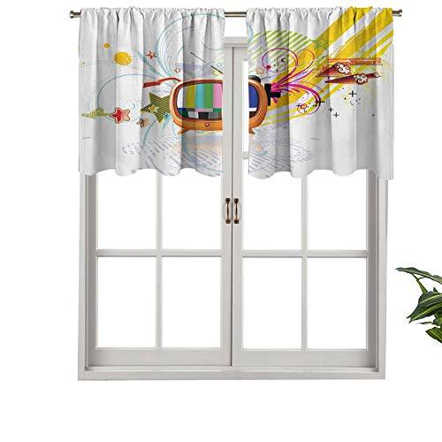 Cenefa opaca de alta calidad con bolsillo para barra, imagen digital, diseño de estrellas, líneas abstractas, juego de 2, paneles opacos decorativos para el hogar de 137 x 61 cm