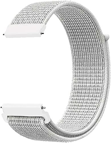 PaceBid Correa de 20 mm compatible con Samsung Galaxy Watch 4 40 mm/44 mm, de nailon suave y ligero, correa ajustable para Samsung Galaxy Watch 3 41 mm/Galaxy Watch 42 mm (concha).