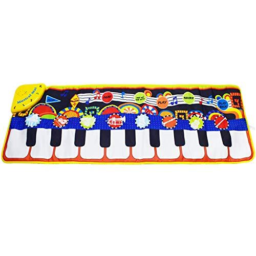 KAREZONINE Piano Mat, Kids Keyboard Mat Playmat Education Toy Birthday Christmas Easter Day Gift for Kids Boys Girls