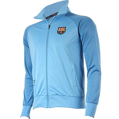 Trainingsjacke mit Reißverschluss Barça, offizielles Produkt von FC Barcelona, Erwachsenengröße, für Herren L blau