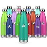 KollyKolla Borraccia Termica 650ml,Bottiglia Acciaio Inox Isolamento - Senza BPA - Borracce per Bambini, Scuola, Sport, All'aperto, Palestra, Yoga
