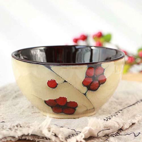 HYLR Keramische Suppenteller Japanische Kochplatte Gerichte für Restaurant Küche Nudelsuppe Pasta Obstsalat Schüssel Schale Müslischüssel Bowl