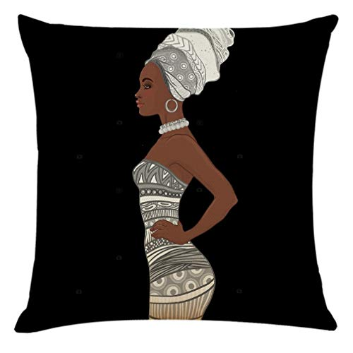 Home Decor Cushion Cover Beautiful African Woman Pillowcase Throw Pillow Covers Home & Garden Pillow Case