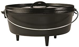 The original Lodge Camp Dutch Oven does it all — and it's been everywhere. A flanged lid holds hot coals and flips over for griddling, while the legs keep the oven at an ideal distance from hot coals. Includes Camp Dutch Oven Cooking 101 cookbook. PR...