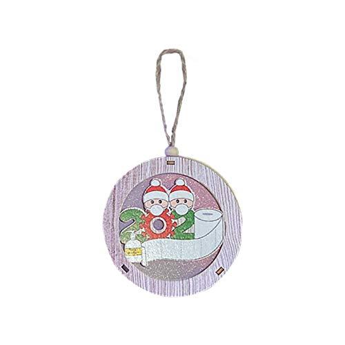 SKOLL 2020 Personalized Christmas Ornament, Quarantine Survivor Family Christmas Decorating Kit Christmas Tree Pendants Home Decor Holiday Decorations Xmas Gifts