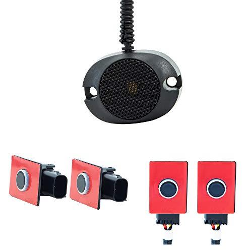 VSG® PRO-Einparkhilfe mit vollintegrierten Sensoren und einem akustischen Signalgeber in schwarz für hinten