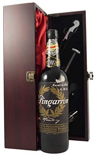 El Pingarron Porto Superior 1928 en una caja de regalo forrada de seda con cuatro accesorios de vino, 1 x 700ml