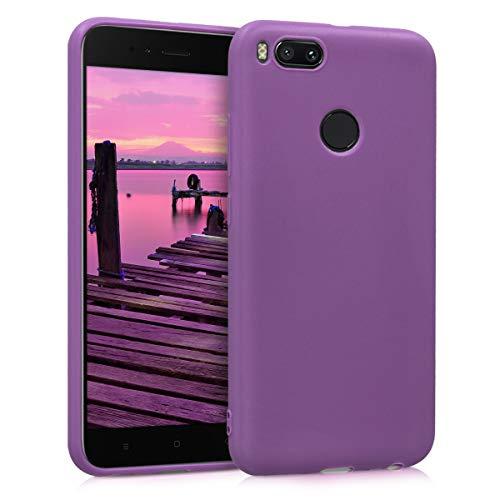 kwmobile Funda Compatible con Xiaomi Mi 5X / Mi A1 - Carcasa de TPU Silicona - Protector Trasero en púrpura Pastel