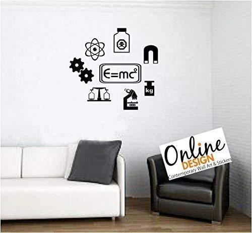 Online Ontwerp muur Quote Vinyl Art Decal Sticker Wetenschap Symbolen school, slaapkamer, kinderen ORANJE