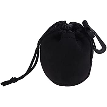 Ginni Thick Protective Neoprene Lens Case Lense Pouch for DSLR Camera Lens (Small)