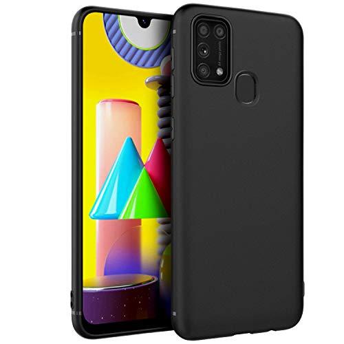 EasyAcc Hülle Case für Samsung Galaxy M31, Schwarz TPU Telefonhülle Matte Oberfläche Handyhülle Schutzhülle Schmaler Telefonschutz Kompatibel mit Das Samsung Galaxy M31