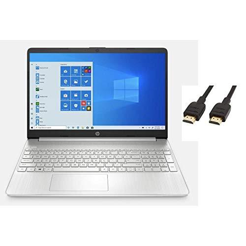 "HP 2020 Premium 15.6"" FHD Touchscreen Laptop Computer, 4 Core Intel Core i5-1035G1 1.00 GHz, 16GB RAM, 512GB SSD, No DVD, Webcam, Bluetooth, Wi-Fi, HDMI, Win 10, TMLTT HDMI Cable"