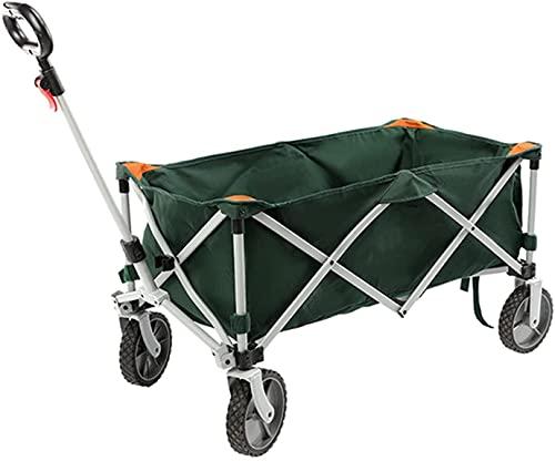 XUERUIGANG Carro Plegable Plegable de camión de Mano con manijas Parque al Aire Libre Picnic Camping Ahorre Tiempo y energía (Color: Verde)