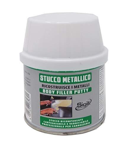 Sigill SIGILLFER - Stucco Metallico Forte Per Carrozzeria, Sovraverniciabile Da 125Ml