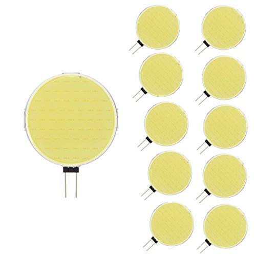 RUGGUANG LIGHTS gloeilampen, 10 stuks G4 5 W 12 V DC 6000 K zuiver wit 63 LED COB licht voor plafondlamp hanglamp binnenverlichting gloeilampen