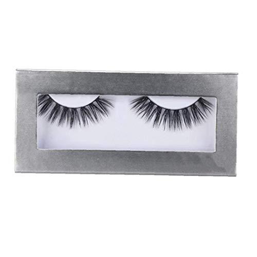 Odoukey 1 Paar Lange Kreuz falsche Wimpern Make-up Natürliche Starke Schwarze künstliche 3D-Augen-Peitsche-Verlängerungs-Verfassungs-Wimpern