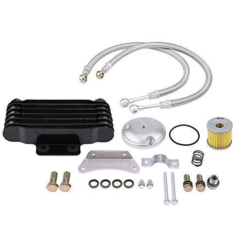 KIMISS Enfriador de Aceite - Enfriador de Aceite del Motor de la Motocicleta, Kits de Radiadores de Refrigeración para GN125 EN125 EN150 GZ125 GZ150