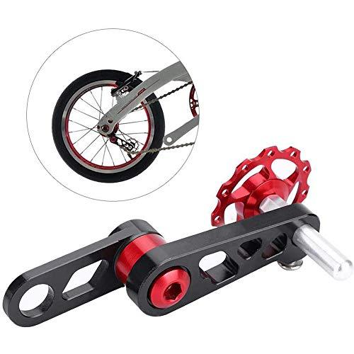Fikujap Aleación de Aluminio Plegable Cadena de Bicicleta Estabilizador de Tensor Bicicleta Trasero Desviador Trasero Convertidor de una Sola Velocidad Accesorios de Bicicletas