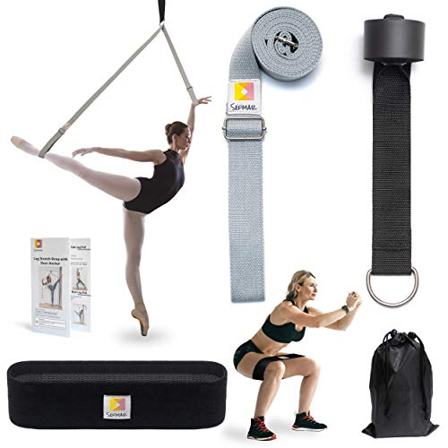 spare SEFMAR Leg Adjustable Stretch Strap with Door Anchor for Flexibility, Stunt, Yoga and Train Resistance Band to Improve Leg Stretching - Great for Ballet, Cheer, Dance, Gymnastics